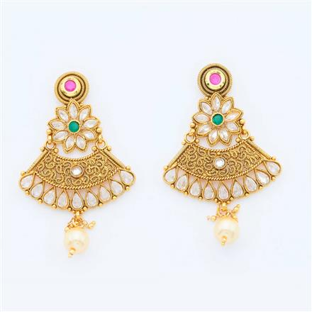 14788 Antique Classic Earring with gold plating