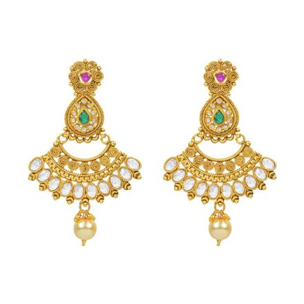 14789 Antique Classic Earring with gold plating