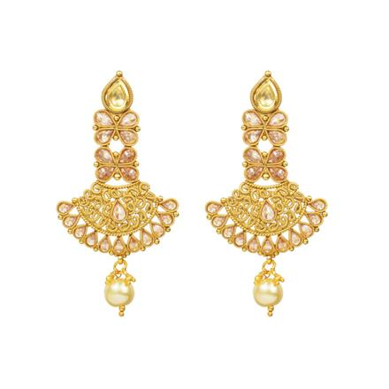 14790 Antique Classic Earring with gold plating