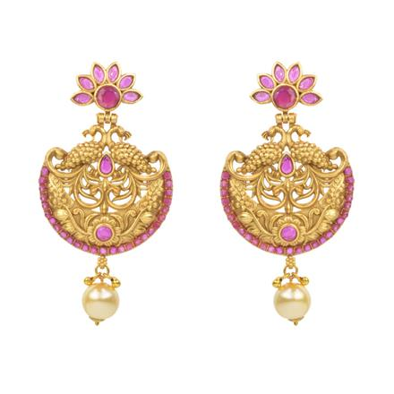 14792 Antique Chand Earring with gold plating
