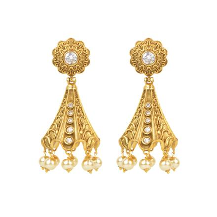 14793 Antique Jhumki with gold plating