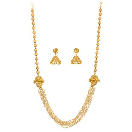14804 Antique Mala Necklace with gold plating