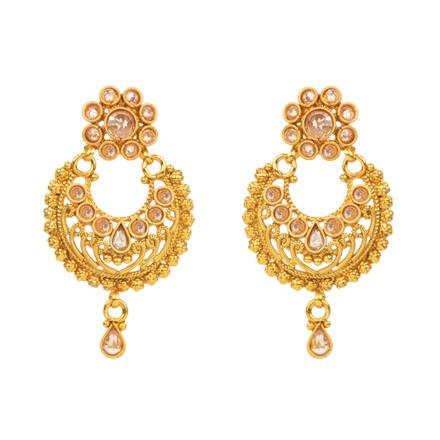 14806 Antique Chand Earring with gold plating