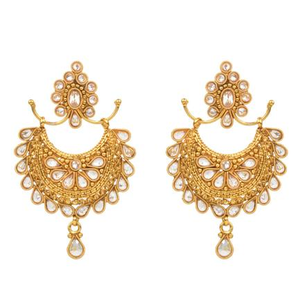 14807 Antique Chand Earring with gold plating