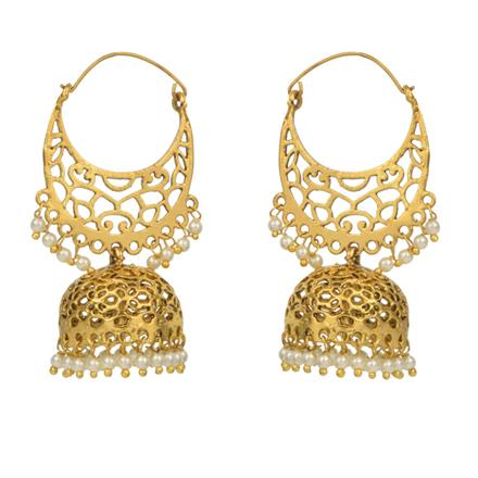14809 Antique Jhumki with gold plating