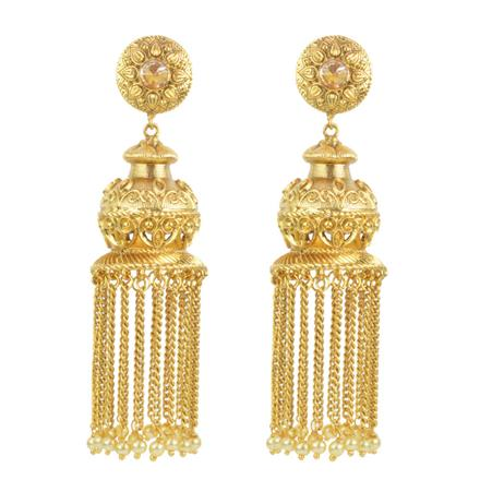 14830 Antique Long Earring with gold plating