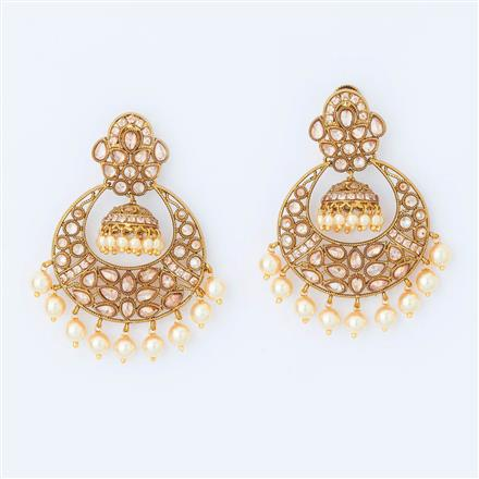 14838 Antique Chand Earring with gold plating