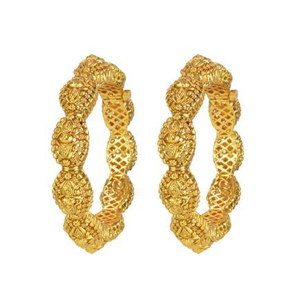 14839 Antique Plain Gold Bangles