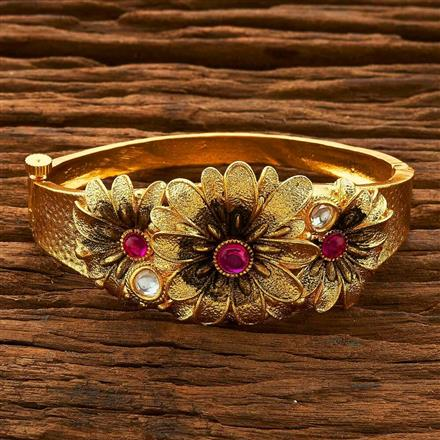 14850 Antique Classic Kada with gold plating