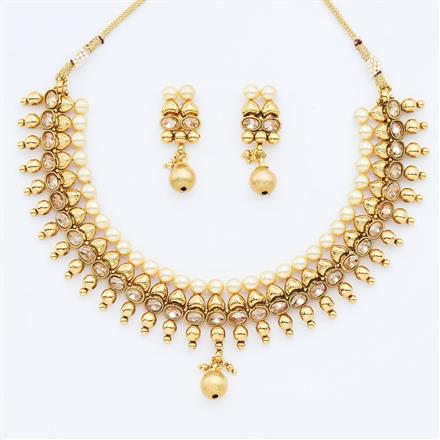 14858 Antique Classic Necklace with gold plating