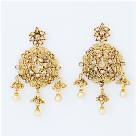 14859 Antique Classic Earring with gold plating