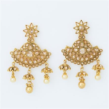 14860 Antique Classic Earring with gold plating