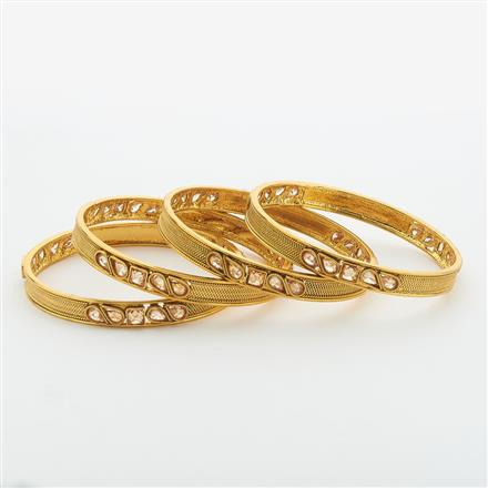 14863 Antique Classic Bangles with gold plating