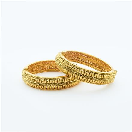 14865 Antique Plain Gold Bangles