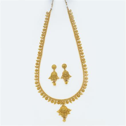 14868 Antique Long Necklace with gold plating