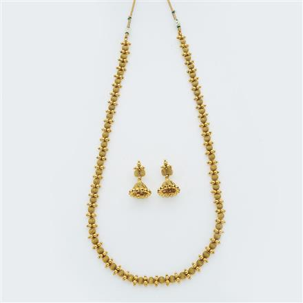 14869 Antique Long Necklace with gold plating