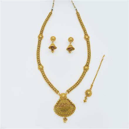 14871 Antique Long Necklace with gold plating