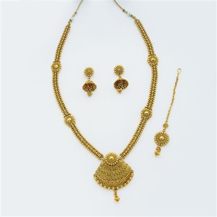 14872 Antique Long Necklace with gold plating