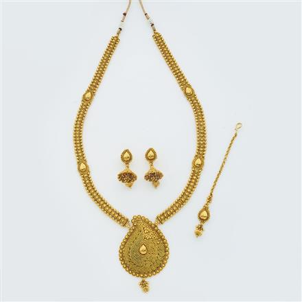 14873 Antique Long Necklace with gold plating