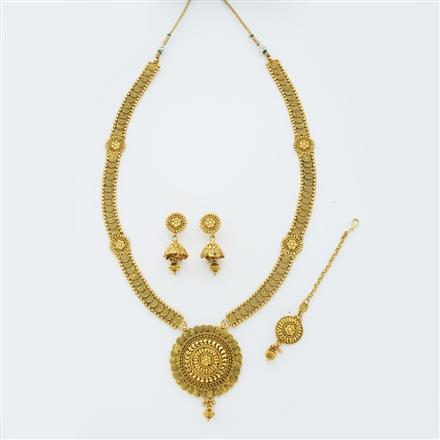 14874 Antique Long Necklace with gold plating