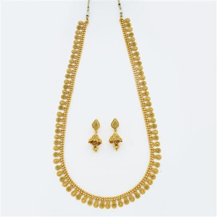 14875 Antique Long Necklace with gold plating