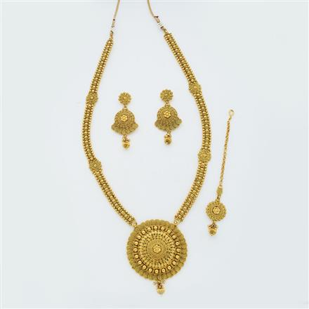 14876 Antique Long Necklace with gold plating
