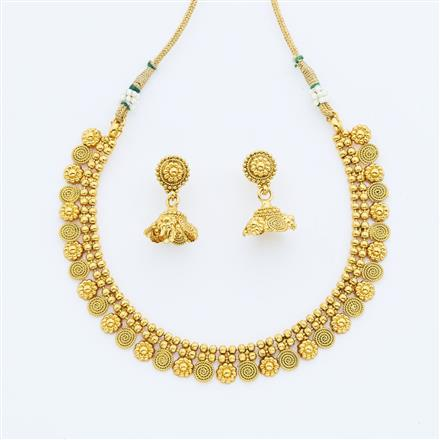 14878 Antique Delicate Necklace with gold plating