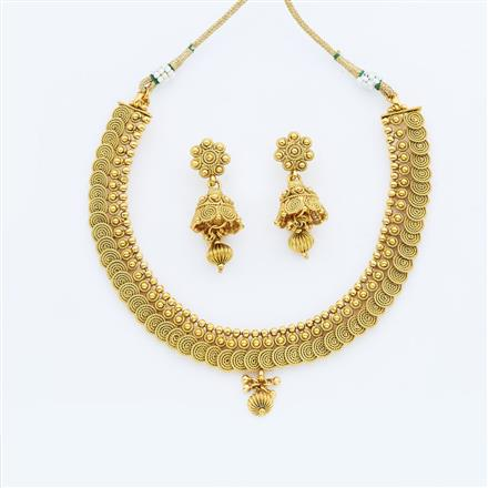 14879 Antique Delicate Necklace with gold plating