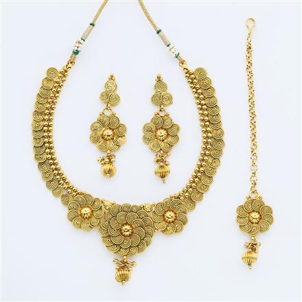 14880 Antique Plain Gold Necklace