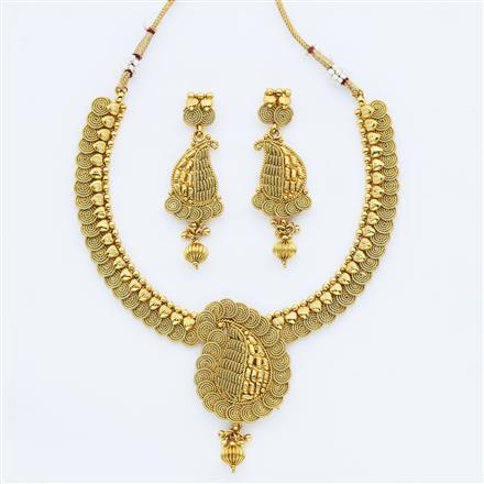 14881 Antique Plain Gold Necklace