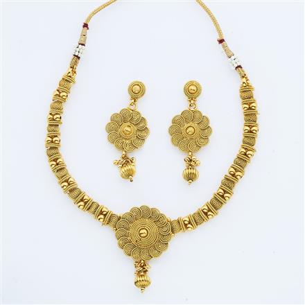 14883 Antique Delicate Necklace with gold plating