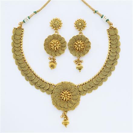 14885 Antique Plain Gold Necklace