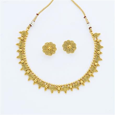 14887 Antique Delicate Necklace with gold plating