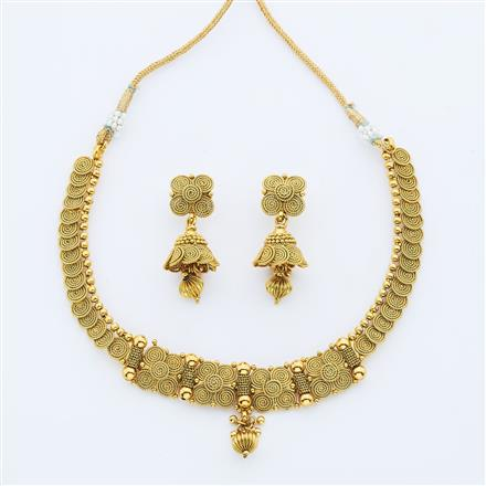 14888 Antique Delicate Necklace with gold plating