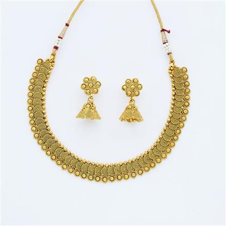 14889 Antique Delicate Necklace with gold plating