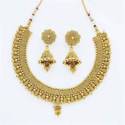 14890 Antique Plain Gold Necklace