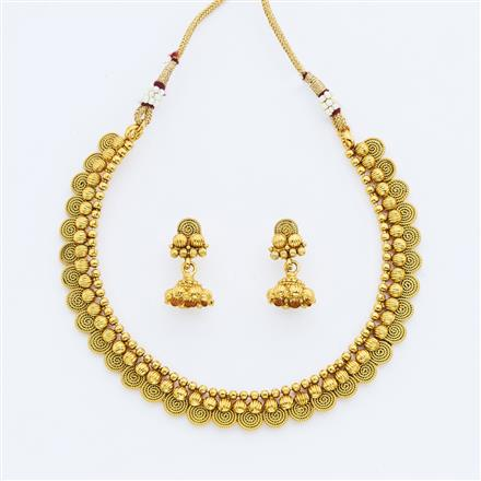 14891 Antique Delicate Necklace with gold plating
