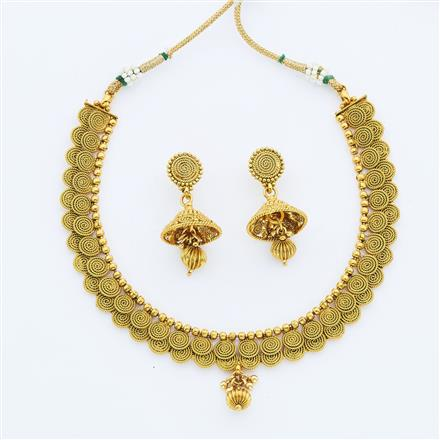 14892 Antique Delicate Necklace with gold plating