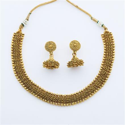 14893 Antique Delicate Necklace with gold plating