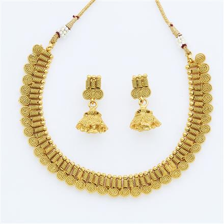 14894 Antique Delicate Necklace with gold plating
