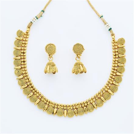 14895 Antique Delicate Necklace with gold plating