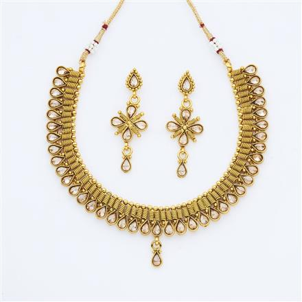 14896 Antique Classic Necklace with gold plating