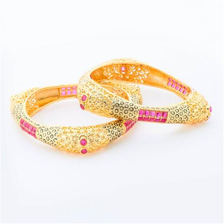 14918 Antique Classic Bangles with gold plating