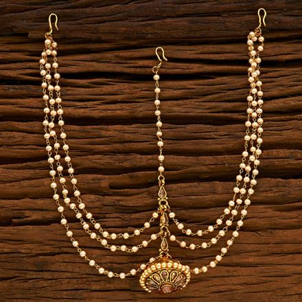 14925 Antique Bore Damini with gold plating