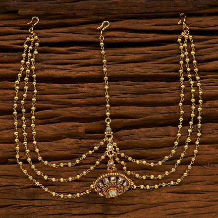 14928 Antique Bore Damini with gold plating