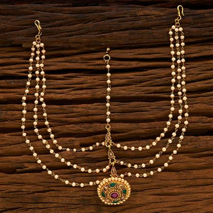14930 Antique Bore Damini with gold plating