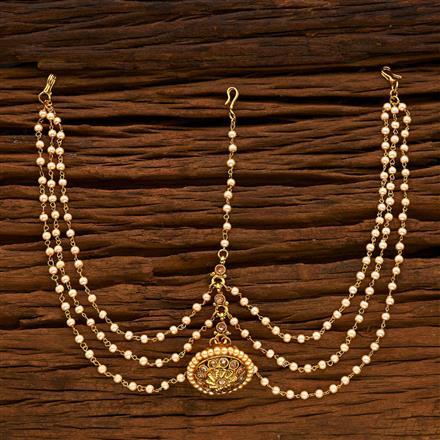 14935 Antique Bore Damini with gold plating