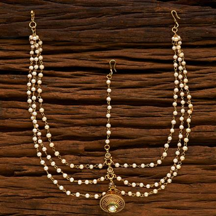 14938 Antique Bore Damini with gold plating