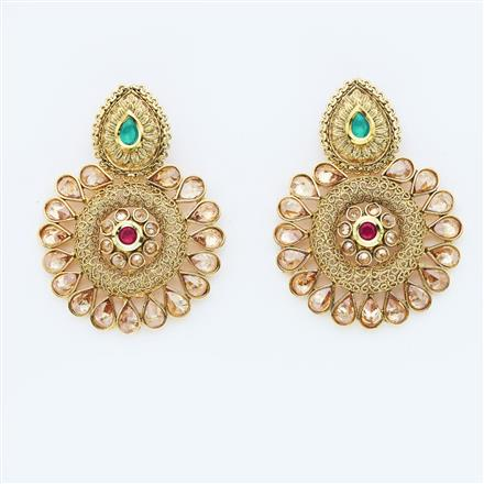 14942 Antique Classic Earring with gold plating