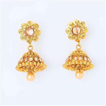 14948 Antique Jhumki with gold plating